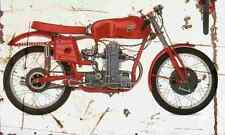 MV Agusta 125 1953 Aged Vintage SIGN A4 Retro
