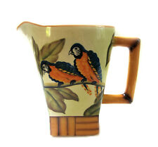 Tropical Bamboo Parrot Pitcher by Pacific Rim Pottery Island Motif Pitcher