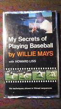 My Secrets Of Playing Baseball by Willie Mays 1968 HC/DJ VG Viking Press