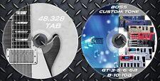 4.843 Patches BOSS GT 3,5,6,6B,8,10,10B & 48.328 Gitarre Noten Tab Sammlung