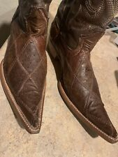 cowboy boots 10 Size 100% Real ostrich Leather +belt