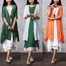 ZANZEA AU 8-24 Women Thin Cardigan Kimono Jacket Outerwear Plus Size Tunic Coat