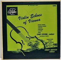 "Louis Stevens & Emery Deutsch ""Violin Echoes of Vienna"" LP Royale 1245 US 50's"