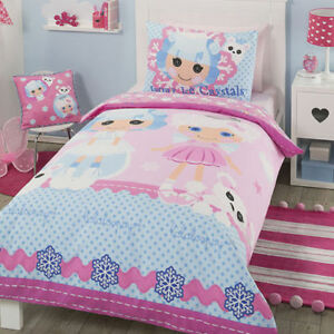 LALALOOPSY IVORY ICE CRYSTALS & CLOUD E SKY QUILT COVER SET DOUBLE/KING SINGLE