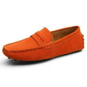 Mens Suede Moccasins Loafers Penny Shoes Casual Shoes Slip On Driving Shoes size