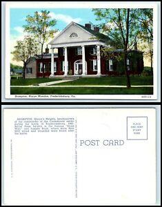 VIRGINIA Postcard - Fredericksburg, Brompton, Marye Mansion N3