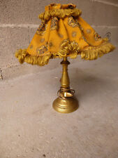 Lampe de chevet bougeoir laiton ciselé début XIXème electrifié