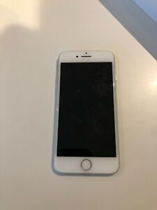 Used Apple iPhone 7 128 GB Smartphone Silver White was on O2: Handset & Box Only