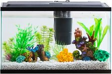 Fish Aquarium Tank 10 Gallon Starter Kit Clear With Led Light Internal Filter