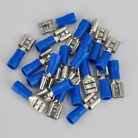 100 Steckverbinder Sortiment Flachstecker 6.3x0.8mm für 1.5-2.5mm² Kabelschuhe