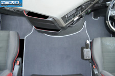 VELOUR  CARPET FLOOR MATS SET-GREY- FIT  VOLVO FH4 2013+  [TWIN AIR SEATS]