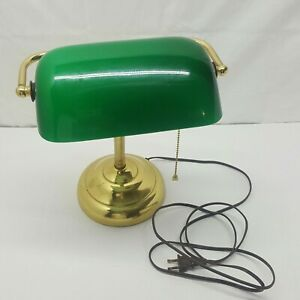 Vintage Emerald Green Bankers Piano Desk Lamp Art Deco
