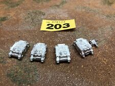 6mm Epic 40K Armageddon - Space Marine Metal Rhinos And Hunter - 203