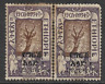 ETHIOPIA POSTAL ISSUE  USED OVERPRINT PAIR DEFINITIVE STAMPS 1922 LOCAL SCENES