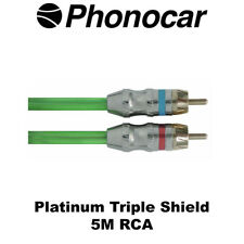 Phonocar 5m RCA Platinum Line Triple Shield High Quality Mono Amp Audio Leads