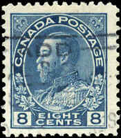 Canada Used F+ Scott #115 1925 8c King George V Admiral Stamp