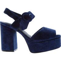 JEFFREY CAMPBELL Velvet Heels MASIE, Navy Blue, RRP £105, UK 5 6