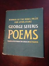 Greek Nobel Prize winner Giorgos George Seferis poetry, 1960s poems hardcover