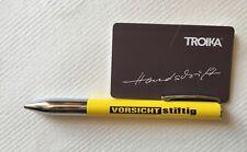 Troika Drehkugelschreiber gelb mit Ersatzmine