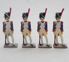 Lot 4 Figurines Soldat Plomb Starlux Grenadier à pied de la garde Napoléon