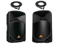 "2x Behringer B112D 12"" 2-Way Powered Speaker 1000W + (2) Speaker Cables 25FT NEW"