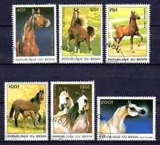 Chevaux Bénin (8) série complète de 6 timbres oblitérés