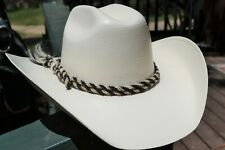 Jose Ortiz Double (2) Strand Twisted Horsehair Hatband Rawhide - Black & White