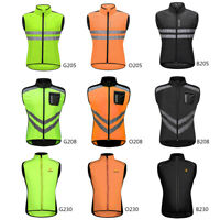 Mens Reflective Cycling Vest Windproof Gilet MTB Bike High Visibility Waistcoat