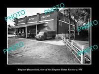 OLD LARGE HISTORIC PHOTO OF KINGSTON QUEENSLAND, KINGSTON BUTTER FACTORY c1950