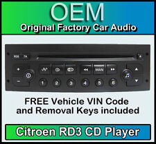 Citroen c2 Car Radio CD rd3 Radio + Free vin code and