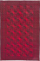 """Hand-knotted Carpet 6'0"""" x 9'6"""" Traditional Vintage Wool Rug"""