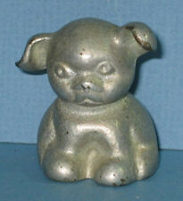 1920's OLD SITTING DOG CAST IRON ADV PAPERWEIGHT LIKE BANK ALL ORIG  PW21