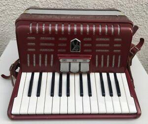 Hohner Akkordeon Student IV N Musikinstrument Anfänger Musikgerät Rot + Koffer