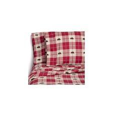 Member's Mark 100% Cotton Flannel Sheet Set Queen Size Bear Plaid Design