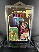 1983 Vintage Kenner Star Wars ROTJ Chief Chirpa MOC - 77 Back - MADE IN MEXICO