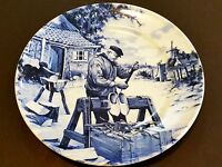 """1984 Ter Steege Bv Delft Blauw Hand Decorated In Holland Plate, 9 1/2"""" Diameter"""