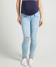 BLOOMING MARVELLOUS SKINNY OVER OR UNDER THE BUMP MATERNITY JEANS RIP DESIGN 16R