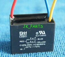 2X CBB61 450VAC 8UF METALLIZED CAPACITOR FOR MOTOR START-UP CEILING FAN