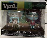 Funko Vynl Rick and Morty RICK w/ Sombrero & UNITY Vinyl Figures 2 Pack NEW