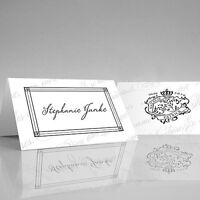 24 Personalized Parisian Love Letter Wedding Place Cards