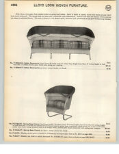 1935 PAPER AD 4 PG Lloyd Loom Woven Furniture Settee Spring Base Chair Rocking
