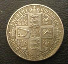 NICE RARE Q.VICTORIA 1847 GOTHIC CROWN IN EXT FINE