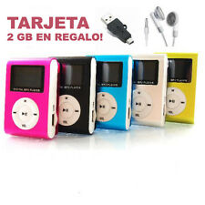 Reproductor Mp3  Mini Clip y RADIO FM, pantalla Lcd y tarjeta 2GB