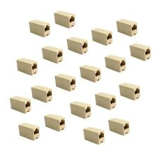 Lot 20 New CAT5 RJ45 Network Cable Extender Plug Coupler Joiner