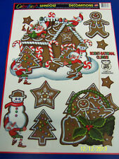 Gingerbread House Winter Christmas Holiday Party Decoration Scented Window Cling