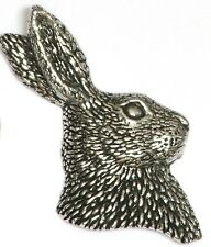 Hare Head Pin Badge. Shooting , Gun, Rifle  coursing