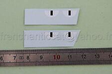 BC Véhicule miniature 1/43 decalcomanie course bande noir 1/2 rond blanc Heco