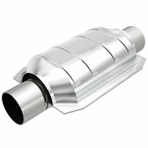 """Magnaflow 91005 Universal High-Flow Catalytic Converter Oval 2.25"""" In/Out"""