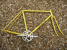 "Cycling MERCIAN 22"" 1978 frame forks & crank set yellow"