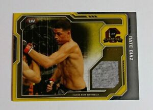 2014 Topps UFC Champions Nate Diaz Fighter-Worn Memorabilia Gold #04/25
